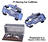 F1 Racing Car Cufflinks - Presented in a Designer Magnetic Cufflink Gift Box