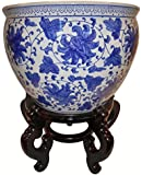 Blue and White Jardiniere By Oriental Furnishings
