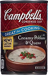Campbell\'s Condensed Soup, Creamy Poblano & Queso, 10.75 Ounce (Pack of 12)