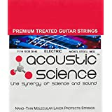 Acoustic Science Premium Treated Nickel Steel Electric Guitar Strings. Keeps you sounding great and extends string life by keeping gunk off the guitar string surface (Medium 11)