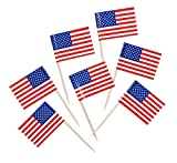 American Flag Toothpicks - Pkg of 500 - Cute for Cupcakes!