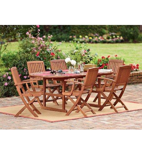 Set Eucalyptus Outdoor Folding Chairs