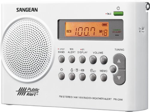Sangean PR-D9W Am/fm Digital Radio with Weather Band