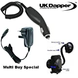 Genuine Motorola V620 UK 3 Pin Mains Charger And In Car Charger + Mobile Car Holder Multi Buy