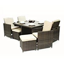 Hot Sale Kontiki 9 Piece Cube Dining Set