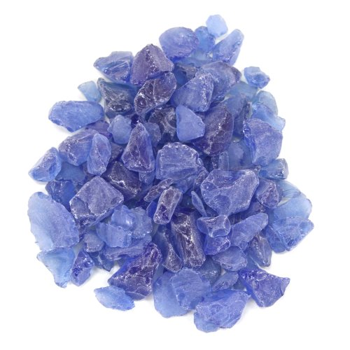 Koyal Wholesale Centerpiece Vase Filler Beach Decor Sea Glass, 1.5-Pound, Royal Blue/Ocean Blue