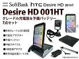 HTC Desire HD Softbank 001HT 予備バッテリー・充電クレードル・液晶保護シート