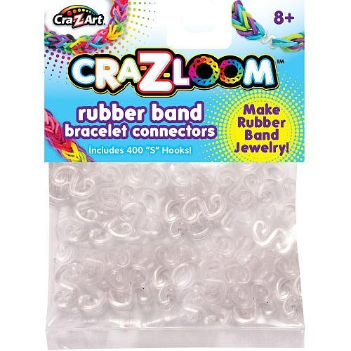 "Cra-Z-Loom Rubber Band Bracelet Connectors - 400 ""S"" Hooks - 1"