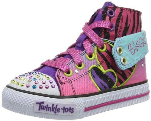 Skechers Girls' Shuffles Wildlights Trainers