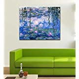 Tallenge Old Masters Collection - Waterlilies By Claude Monet - Premium Quality Ready To Mount Gallery Wrap Canvas...