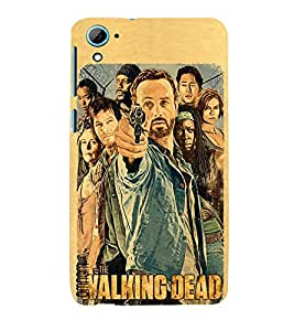Omnam The Walking Dead Gang Printed Back Cover Case For HTC Desire 826