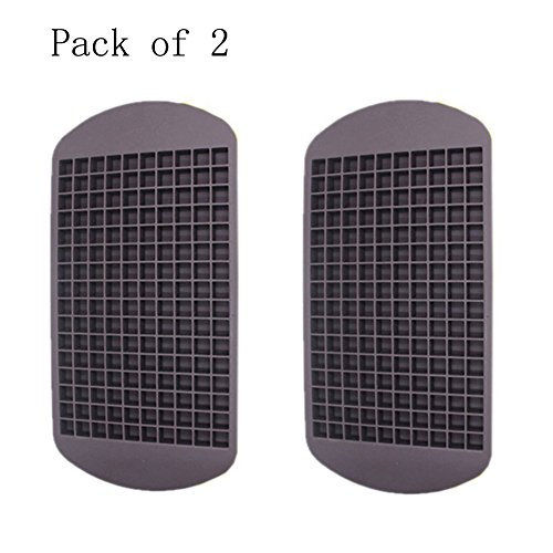 Wootop-Chocolate Frozen Mini Cube Silicone Ice Tray 100% Food Grade Silicone Minicube2-Choco (Pack Of 2) front-525652