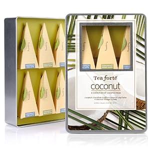 Tea Forte Medium Tin Sampler Collection - Coconut Collection from Tea Forte