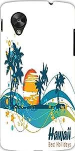 Snoogg Summer Illustration Designer Protective Back Case Cover For Lg Google ...