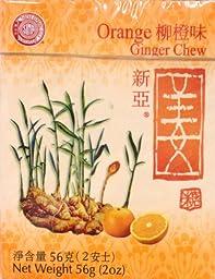 2 x 2oz Sina Orange Ginger Chews Candy
