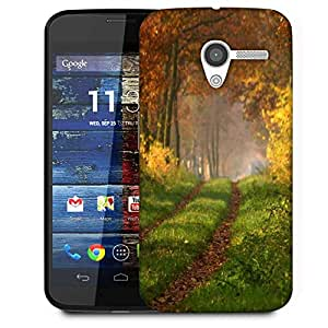Snoogg Small Way In Forest Designer Protective Phone Back Case Cover For Moto X / Motorola X