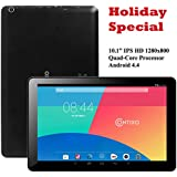 """Contixo Q103 10.1"""" Quad Core Google Android 4.4 KitKat Tablet PC, IPS HD 1280x800 Display, 1GB RAM, 8GB Nand Flash, Bluetooth, Dual Camera, HDMI, Google Play Pre-installed, 3D Game Supported (Black)"""