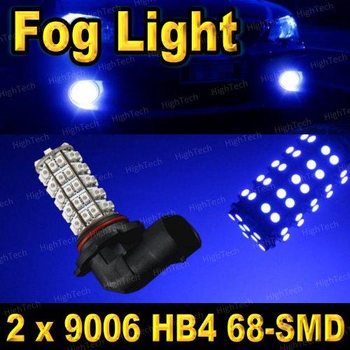 2 Pcs Ultra Blue 9006 / 9012 / Hb4 68-Smd Led Headlight Bulbs For Driving Fog Light / Day Time Running Light Drl