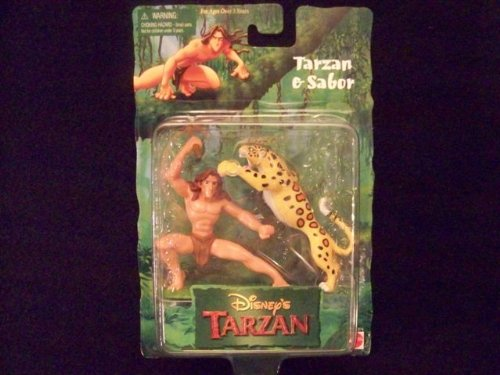 Buy Low Price Arcotoys Disney's Tarzan & Sabor Figures (B0054LOSMG)