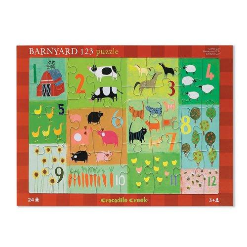 Cheap Crocodile Creek Barnyard 123 Early Learning Tray Puzzle (B001CWMXTG)