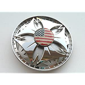 United States US American Flag Spinner Belt Buckle