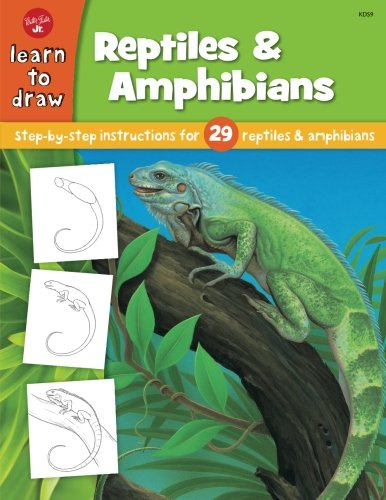 Learn to Draw Reptiles & Amphibians: Step by Step intsructions for 29 reptiles & amphibians (Walter Foster Learn To Draw compare prices)