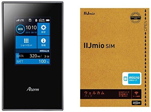 IIJmio SIMカード ウェルカムパック ( マイクロSIM + NEC モバイルルーター PA-MR04LN ) セットモデル Amazon.co.jp 限定 PA-MR04LN+IM-B095