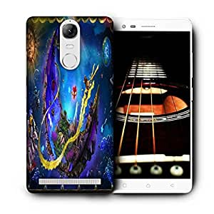Snoogg Puppeteer In The Moon Printed Protective Phone Back Case Cover For Lenovo K5 Note