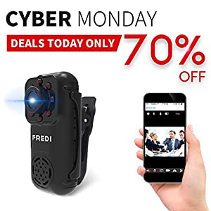 FREDI 720P Mini Portable Hidden Spy Camera Indoor / Outdoor Security WiFi Camera with IR Night Vision Motion Detection