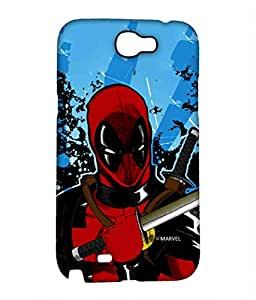 Block Print Company Deadpool Fury Phone Cover for Samsung Note 2
