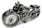 かっこいい! メタリック風 バイク型 目覚まし時計 オシャレな インテリア時計