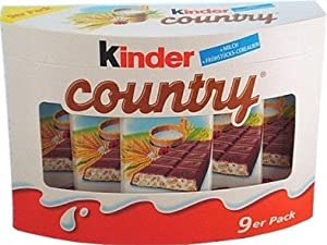 Kinder Country Milk Chocolate with Rich Milk Filling ( 9's ) by Ferrero
