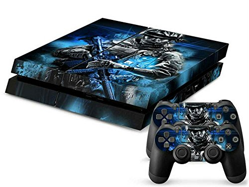 Mod-Freakz-PS4-Console-and-Controller-Vinyl-Skin-Decal-Man-Blue-Light-Battle