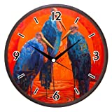 Wall Clocks - Printland Love Birds Wall Clock