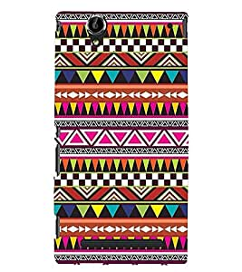 Printvisa Ethnic Multicoloured Pattern Back Case Cover for Sony Xperia T2 Ultra::Sony Xperia T2 Ultra Dual