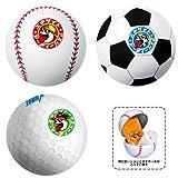 エキサイトアスリートボール3ヶセット(野球・サッカー・ゴルフ)