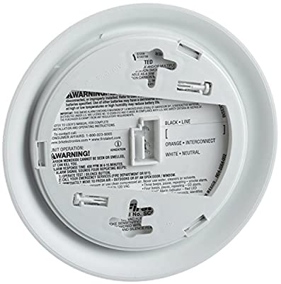 First Alert BRK SC9120B Hardwire Combination Smoke Carbon Monoxide Alarm with Battery Backup