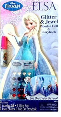 Disney Frozen Elsa Wooden Doll Storybook