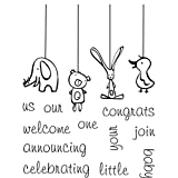 My Sentiments Exactly Clear Stamps 3X4 Sheet Baby Mobile