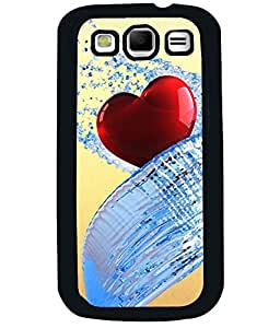 PRINTVISA Heart Premium Metallic Insert Back Case Cover for Samsung Galaxy S3 - I9300 - D6029