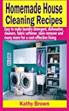 img - for Homemade House Cleaning Recipes: Easy To Make Laundry Detergent, Dish Washer, Cleaners, Fabric Softener, Stain Remover and Many More For A Cost-Effective Living book / textbook / text book