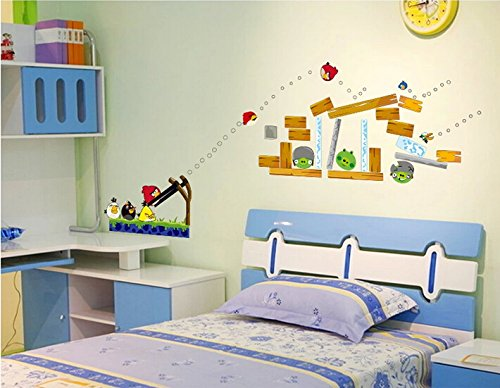 Eden art diy home decor art removable wall decal kids room for Angry bird wall mural