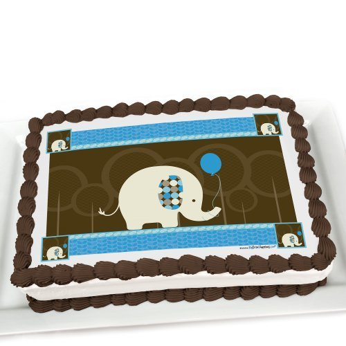 Edible Cake Decorations Boy : Boy Elephant Baby Shower Cake Decorations Baby Shower Mania
