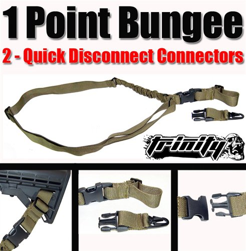Deluxe Olive Bungee Sling For Paintball Guns, One Point Bungee Sling For Bt Delta Gun, Bt Delta Elite Paintball Gun 1 Point Sling, Bt Delta Gun Sling, Tactical Sling For Paintball Guns, Fast Shipping