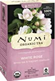 Numi Organic Tea White Rose, Full Leaf White Tea, 16-Count Tea Bags - 1.13 oz (Pack of 3)