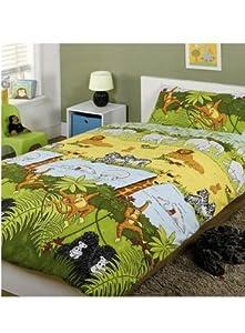 Parure de lit housse de couette girafe jungle animaux 2 taies d oreiller 2 - Housse de couette girafe ...
