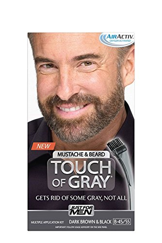 Just for Men Touch of Gray Mustache and Beard Color, Dark Brown & Black (Gray Hair Dye Men compare prices)