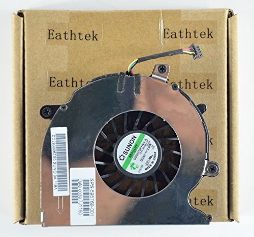 Eathtek New Laptop Cooling Fan For HP EliteBook 8540P 8540w, compatible with part numbers 595769-001 GB0575PHV1-A B4136 (Note: The part# may be different)