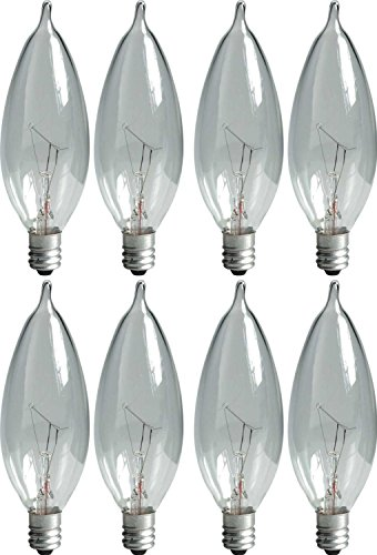 GE Lighting 76241 Crystal Clear 40-Watt, 360-Lumen Bent Tip Light Bulb with Candelabra Base, 8-Pack (Ge 57w Bulb compare prices)