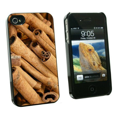 Cinnamon Sticks - Dried Brown Spice - Snap On Hard Protective Case for Apple iPhone 4 4S - Black